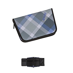 4YOU Igrec stabiles Zipper Pencilcase Checker grey violet 649