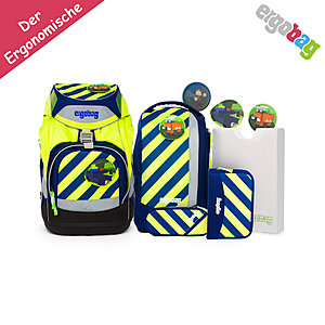 ergobag Pack Schurucksack IllumiBär, 6tlgs Set Neo Edition